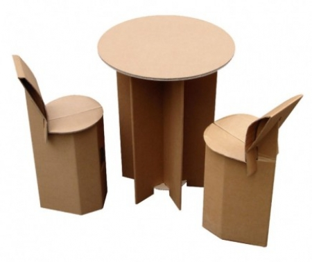 tabouret de bar en carton quart de poil. Black Bedroom Furniture Sets. Home Design Ideas