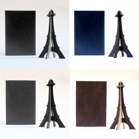 tour eiffel miniature cuir recycle. Black Bedroom Furniture Sets. Home Design Ideas