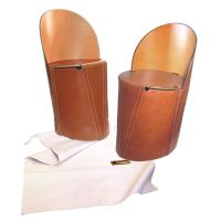 Chaises pliables en cuir de buffle foldable Leather chairs