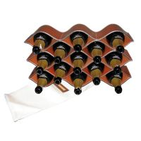 Rack pour 13 bouteille en cuir de buffle Leather Bottle Rack