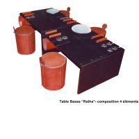 Table Basse composable Modular low Table and mini-stools