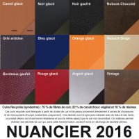 nuancier cuir recycle 2016