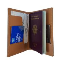 Etui passeport cuir recycle