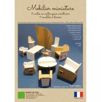 mobilier carton miniature Set of Cardboard Miniatures