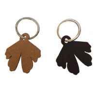 porte-clés feuille recto-verso Ginkgo Biloba leaf key ring