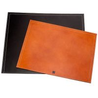 Sous-Mains en cuir coutures sellier Leather Desk Blotter
