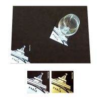 Sous-Verre et Set de Table en cuir recyclé Place Mat and Coaster
